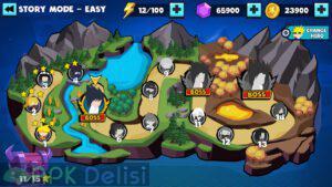 Stickman Shinobi : Ninja Fighting v2.7 MOD APK — SINIRSIZ PARA HİLELİ 4