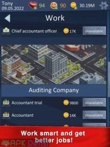 hit the bank life simulator mod apk para hileli apkdelisi.com 4