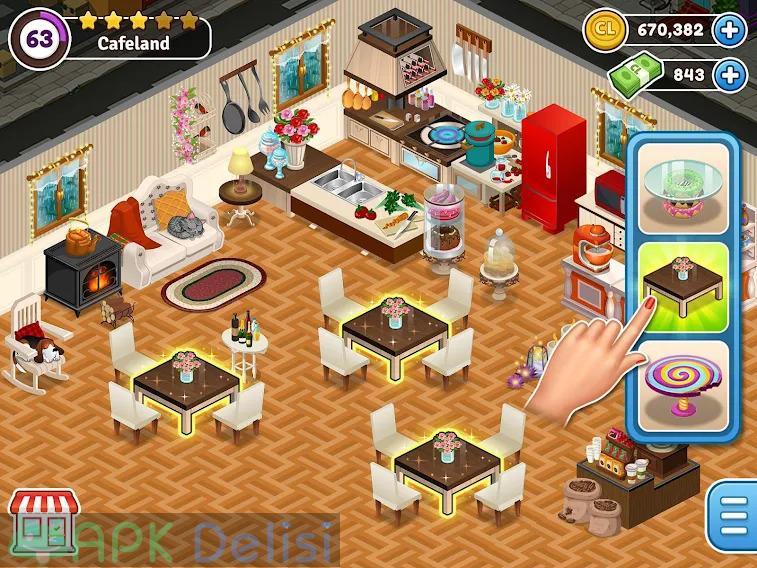 Cafeland Restoran Oyunu v2.1.83 MOD APK — PARA HİLELİ 2