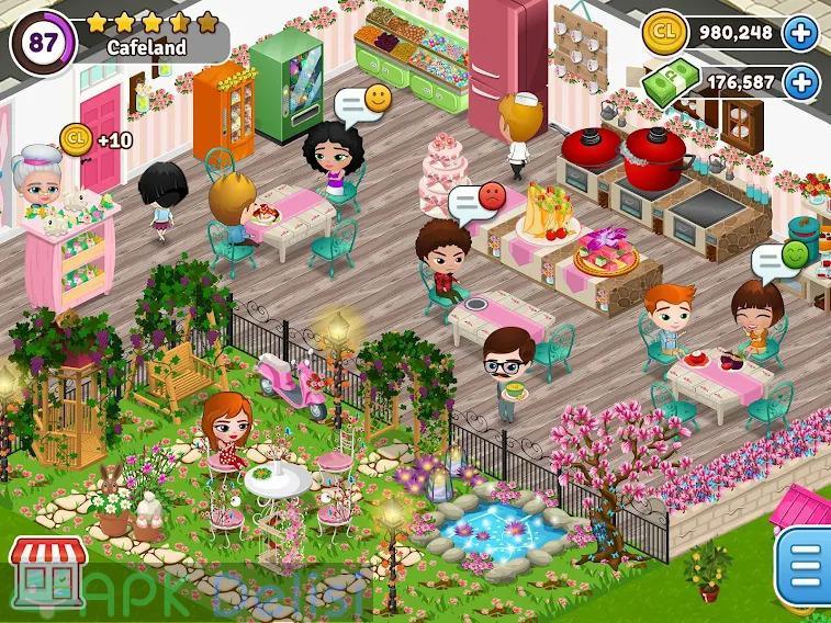Cafeland Restoran Oyunu v2.1.83 MOD APK — PARA HİLELİ 3