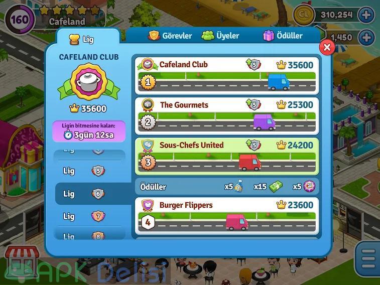 Cafeland Restoran Oyunu v2.1.83 MOD APK — PARA HİLELİ 6
