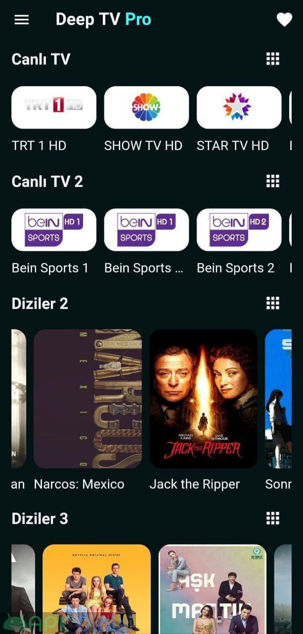 Deep TV PRO v1.0.34 REKLAMSIZ APK — CANLI MAÇ, EXXEN SPOR, NETFLİX, CANLI TV, 1