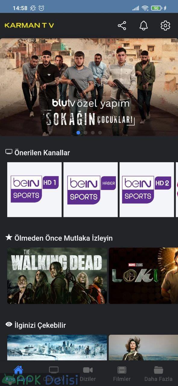 Karman TV v1.2 REKLAMSIZ APK — CANLI MAÇ EXXEN, BEİN SPORTS, BLUTV, NETFLİX, GAİN 1