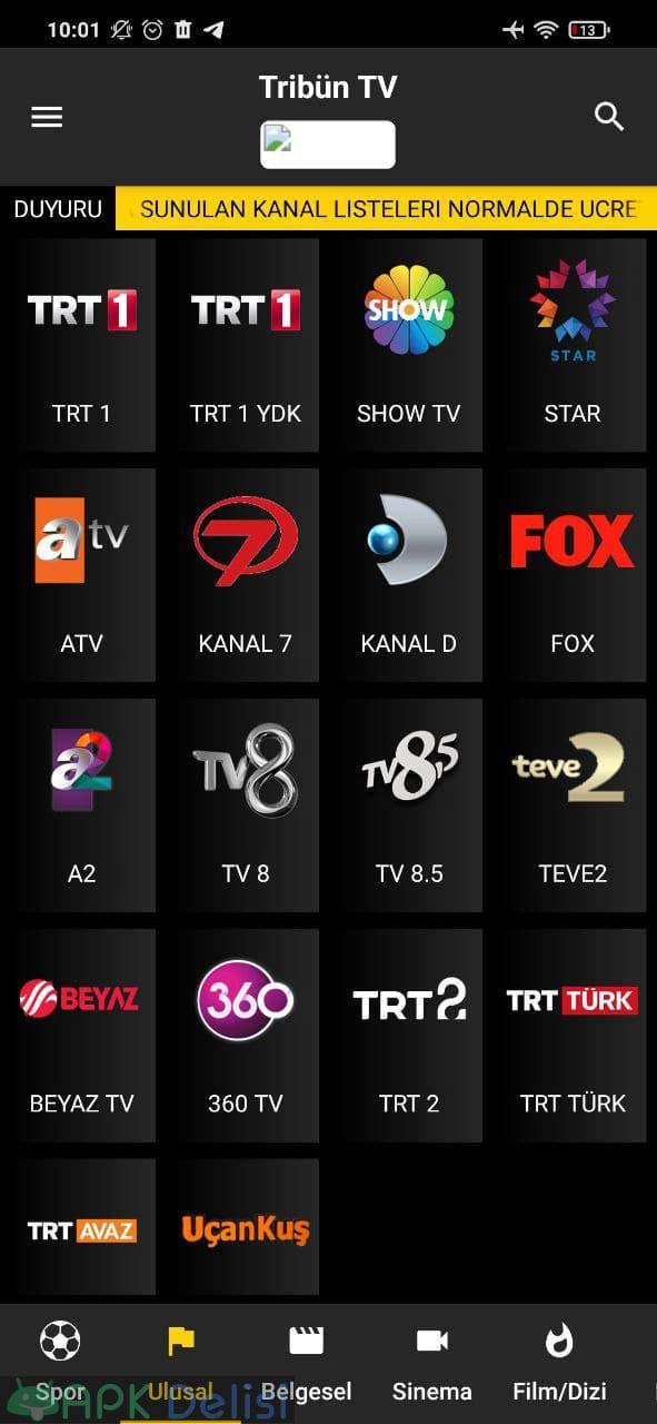 Tribün TV v6.1 REKLAMSIZ APK — EXXEN, BEIN SPORTS, TİVİBU, FİLM VE DİZİ 2