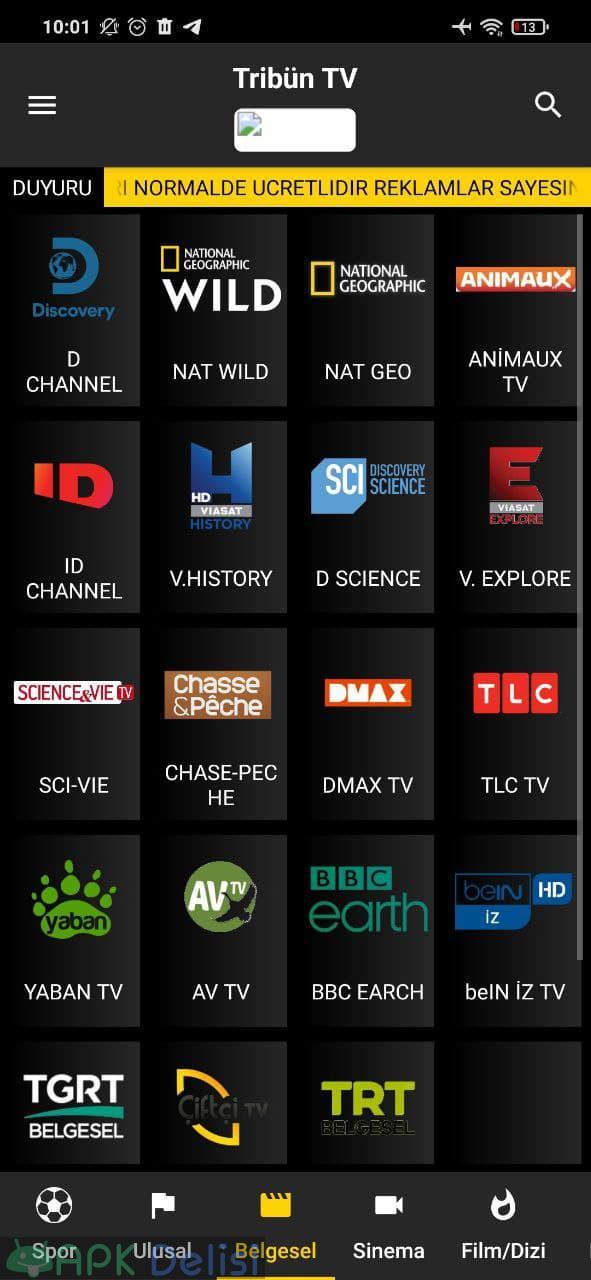 Tribün TV v6.1 REKLAMSIZ APK — EXXEN, BEIN SPORTS, TİVİBU, FİLM VE DİZİ 4